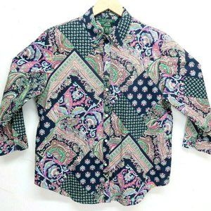 Ralph Lauren Womens Floral Paisley Patchwork style